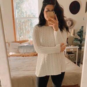 J. JILL ❀ ivory chenille longline sweater